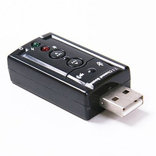 2 Sets/Lot 7.1 Channel USB External Sound Card Audio Adapter(China (Mainland))