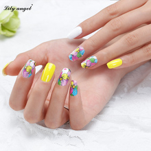 3Sheets Colorful Mixed Nail Art Decals Flower Water Transfer Nail Stickers Full Cover Wraps Manicure Tools Z(China (Mainland))
