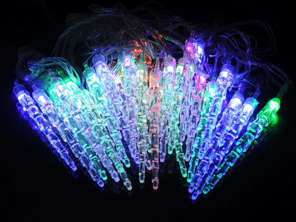 Led Icicle String Lights : Top 12color AC110 220V 10M Icicle Shape LED String Light Christmas Outdoor Decoration New Year ...