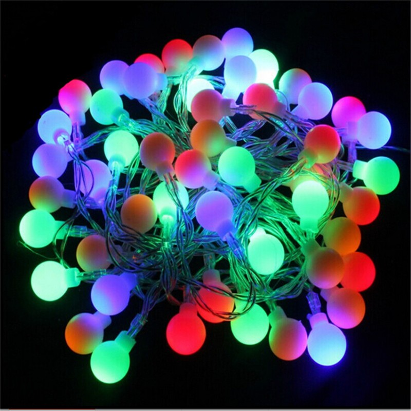 Changeable 10M 50 led Light Bulb AC220V Holiday Decoration Lamp Festival Christmas lights Indoor Outdoor lighting(China (Mainland))