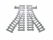 Buy Switch tracks Flexible rail tracks building block toy Streight curved train tracks Compatible Legoa for $8.08 in AliExpress store