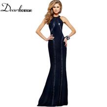 Valentine's Day 2016 Bohemian Long Sequin Trim Elegant Dress women Jersey Gown robe longue femme vestido de festa longo LC60589(China (Mainland))