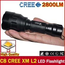 2015 HOT free shipping C8 CREE Led Flashlight 2800 Lumens lanterna Led CREE XM L2 Torch Light Camping Flash Light torch