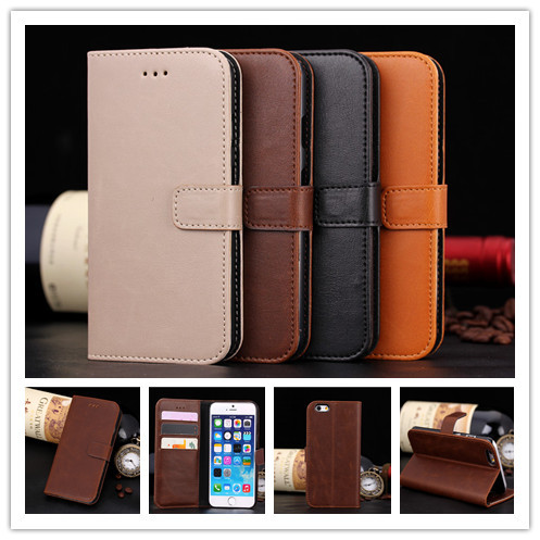 Luxury PU Leather Flip Case For Apple iphone 6 6s 4.7inch Phone Cover Cases With Wallet & Stand Function PY(China (Mainland))