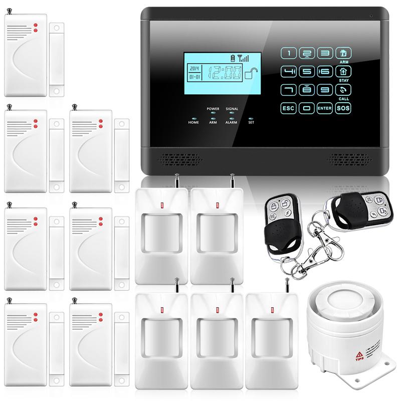 M2E Wireless GSM SMS Home Emergency Alert Security Alarm System, PIR Motion Sensor, Door Gap Detector, Remote Controller P716(China (Mainland))