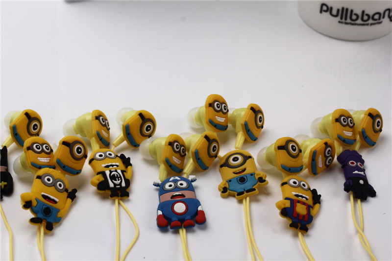 New cartoon headphones minions Despicable Me superman headset 3.5mm jake stereo  for iphone 5 5s Samsung