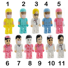 Doctor Nurse model USB 2.0 Flash Memory Pen Drive Stick 4GB 8GB 16GB 32GB 64GB Dentist USB Flash Drives Thumbdrive Free shipping(China (Mainland))