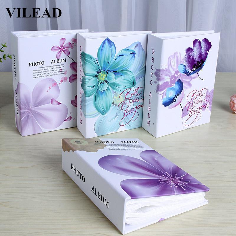 VILEAD 4D 6 inch Vintage Flower Pattern Photo Album Book 100 Page Photo Image Album Scrapbook Binder Photo Storage Case Family(China (Mainland))