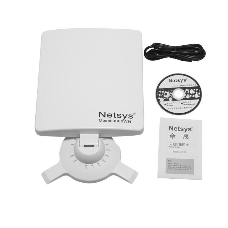 NETSYS 9000WN 6800mW 802.11b/g/n 150Mbps USB 2.0 Wireless Network Adapter - White(China (Mainland))