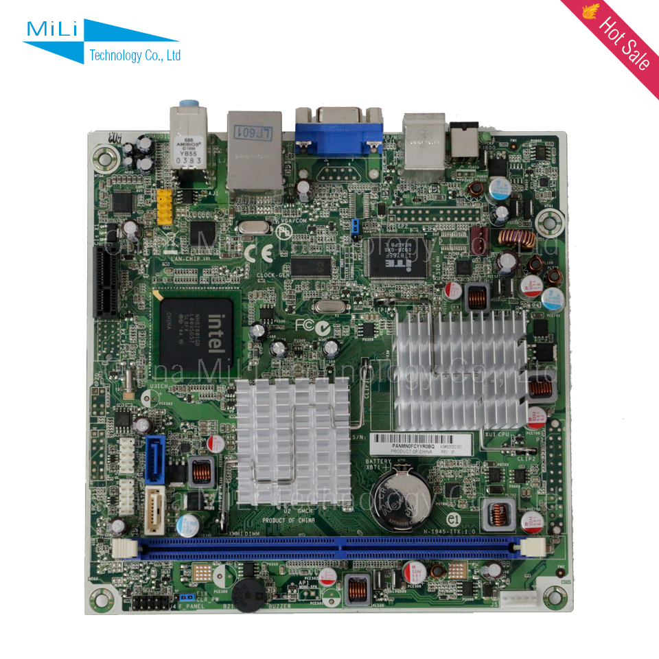 For HP H-I945-ITX Original Used Embedded Desktop Motherboard ATOM 330 501994-001 505052-001 DDR2 MINI-ITX On Sale(China (Mainland))