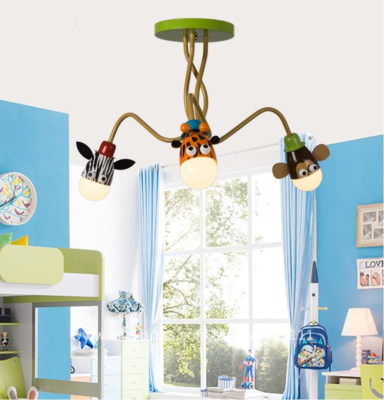 Most Popular Animal Design Cartoon Zebra Giraffe Monkey Childrens - Childrens lights for bedrooms