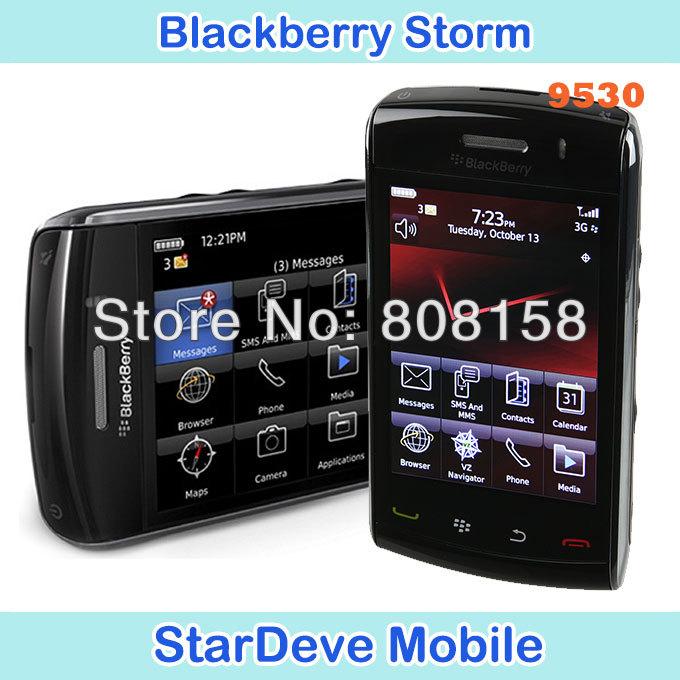 Original BlackBerry Storm 9530 Unlocked Mobile Phone GPS 3G Smartphone free shipping via Singapore post(China (Mainland))