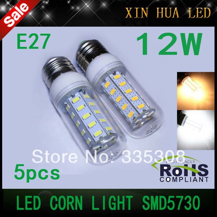 High Brightness LED e27 smd5730 36LEDs Corn lampada light Bulbs 12W 220-240v 5730 SMD Spotlight - Xin Hua Electrical Store store