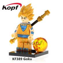 Dragon Ball Z Son Goku Gogeta Son Gohan Vegeta Vegetto Presentes Dolls Figuras de Ação Building Blocks Brinquedos Crianças KF6069(China)