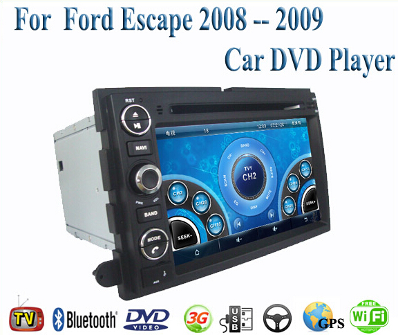 2 Din Car DVD Player Fit Ford Escape 2008 2009 GPS TV 3G Radio WiFi Bluetooth Wheel contol(China (Mainland))