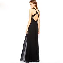 2016 New Women's long dresses elegant Hollow out summer clothing sleeveless chiffon dress fashion free shipping JX300(China (Mainland))