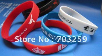 egen promotions silicone bracelet custom written promotional event gifts EG-WBP001 gel bracelets with solid colour design name
