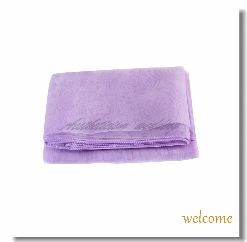 """Wholesale 2014 Lavender Organza Table Overlay Cloth 72"""" Square Wedding Party feasts banquet professional Supply Colors New Hot(China (Mainland))"""