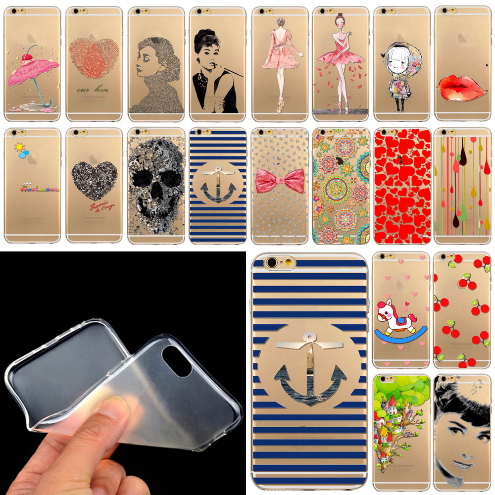 Free shhipping for 5 5s TPU case cover good quality lovely cartoons for apple iphne 5 5s Soft Rubber Silicone TPU WHD1285 41-60(China (Mainland))