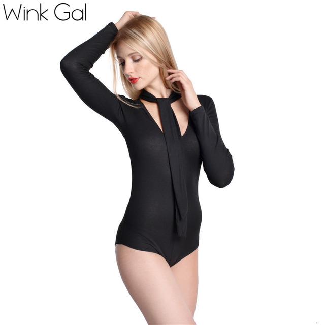 Wink Gal элегантная женская боди с длинными рукавами стортивная боди на осень осенний ...