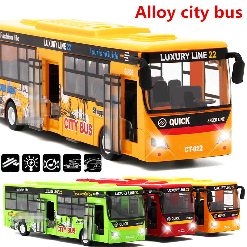 1:32 alloy pull back cars,city bus high simulation model,metal diecasts,toy vehicles,pull back & flashing& musical,free shipping(China (Mainland))