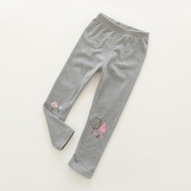 2016 весна осень новинка детская 3 - 11 год хлопковые брюки девушки KidsTrousers грибы печать леггинсы