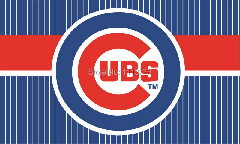 Chicago Cubs logo flag 3x5 FT Banner 100D Polyester MLB Flag Brass Grommets010, free shipping(China (Mainland))