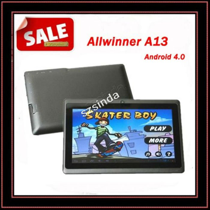 Free Shipping DHL 7inch Android 4.0 Capacitive Screen 512M 4GB Camera WIFI Q88 Allwinner A13 Tablet PC USA(Hong Kong)