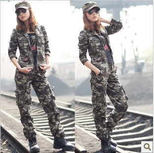 2013 Outdoor Climbing Clothing Camouflage Army Suit Ms. Cotton Cargo Set