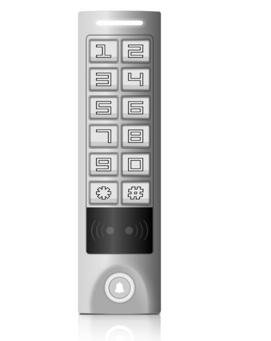 Elegant design Aluminum alloy IP65 tuoch panel Standalone Access control / reader sKey W-S built-in 125kHz ED&HID card(China (Mainland))