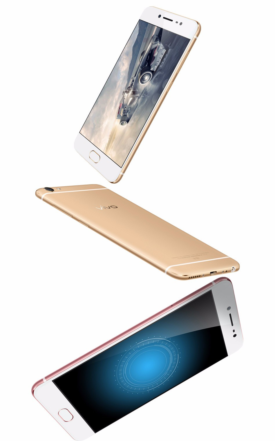 Original VIVO X7 Cell Phone 4GB RAM 64GB ROM Snapdragon MSM8976 Octa Core 5.2 inch 16.0MP Camera Android 5.1 SmartPhone