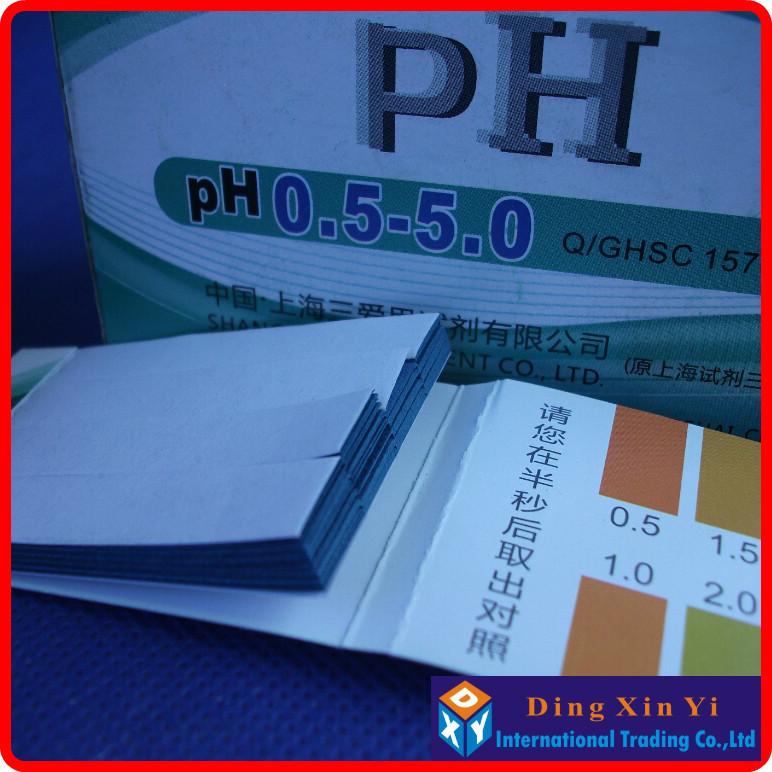 (10 pieces/lot)Accurate PH test paper, pH test strips, pH Range: 0.5-5.0,80 Strips short-range PH paper 0.5-5.0(China (Mainland))
