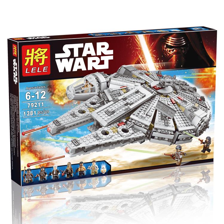 LELE 79211 Star Wars Millennium Falcon Force Awakening Bricks Building Block Minifigue Toys Kid Gift Compatible