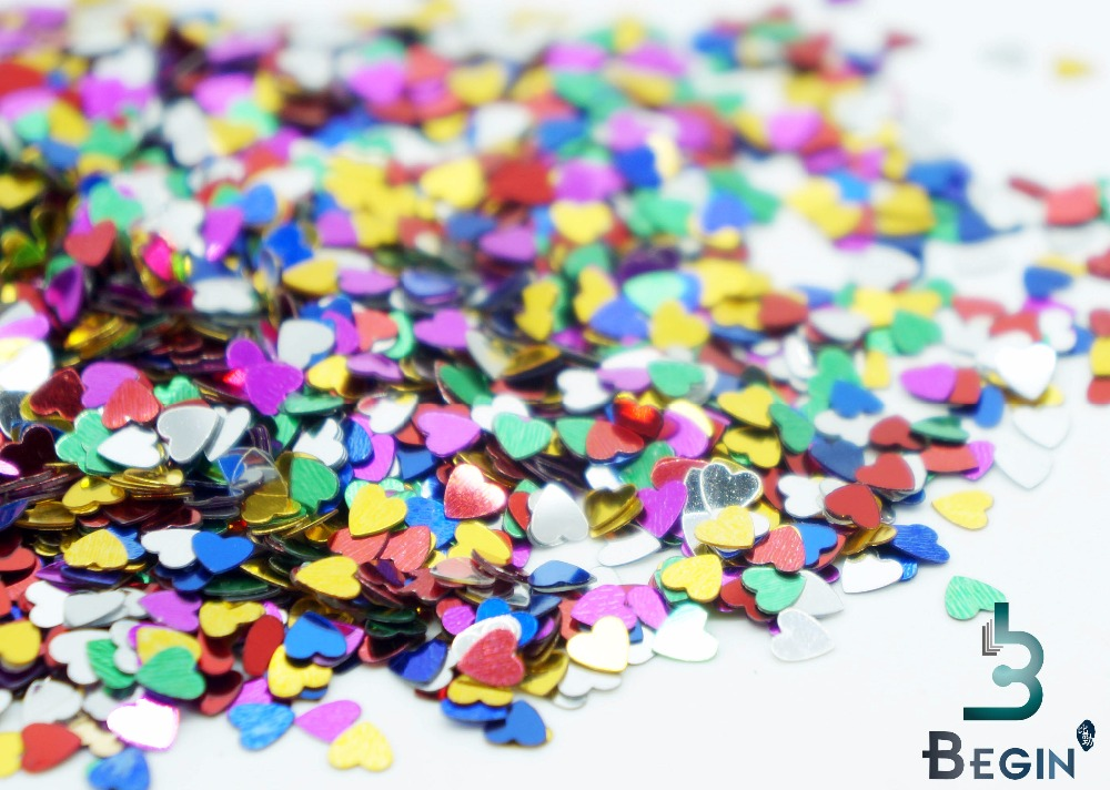 4000pcs/ pack Multi-Color Sparkling Love Heart Wedding Party Confetti Table Decoration Decorative Supplies Valentine's Day(China (Mainland))