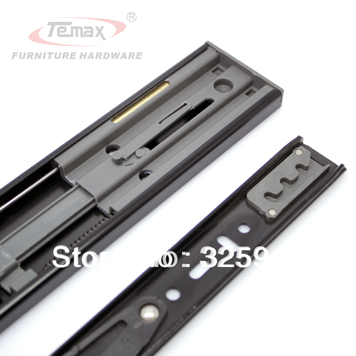 "18""drawer slides brass damper buffer glides soft closing ball bearing slide cabinet furniture hardware(China (Mainland))"