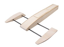 Free Shipping Wooden Sponson Race Boat Kit (495mm)(China (Mainland))