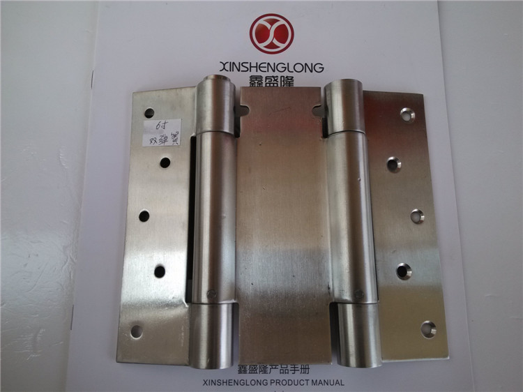Luxury stainless steel double open door hinge spring hinge spring hinge inside and outside the open spring heavy(China (Mainland))