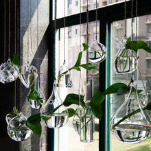 Clear glass vases bonsai wedding flower vases home decoration art decor hanging vases flower pots planters crystal flower pot(China (Mainland))