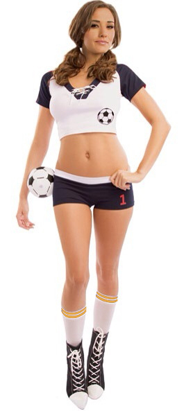 Holiday gift:Free shipping for Women football sexy school girl Sexy Halloween Soccer Costume 10S1414 Women sport costumes(China (Mainland))