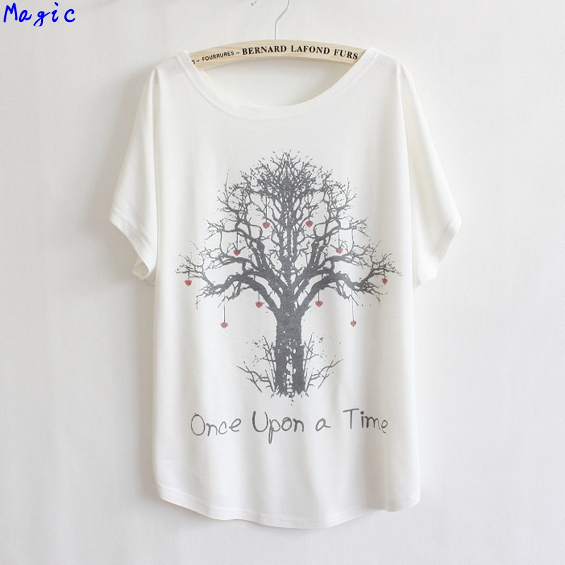 [Magic] love tree printing cotton t shirt women loose short sleeve casual hot tops tees LBZ15 - magic clothing store