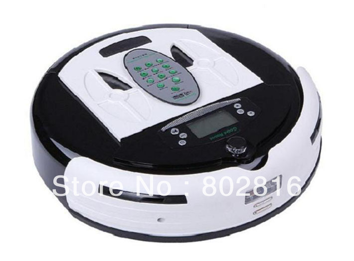Free Shipping 4 In 1 Newest Multifunctional Wet&Dry Mop Good Robot Vacuum Cleaner With Dirt Detection Function(China (Mainland))