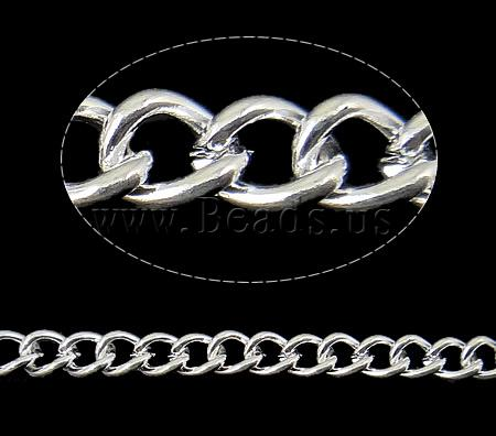 Free shipping!!!Iron Twist Oval Chain,Fashion Jewelry in Bulk, silver color plated, nickel, lead & cadmium free