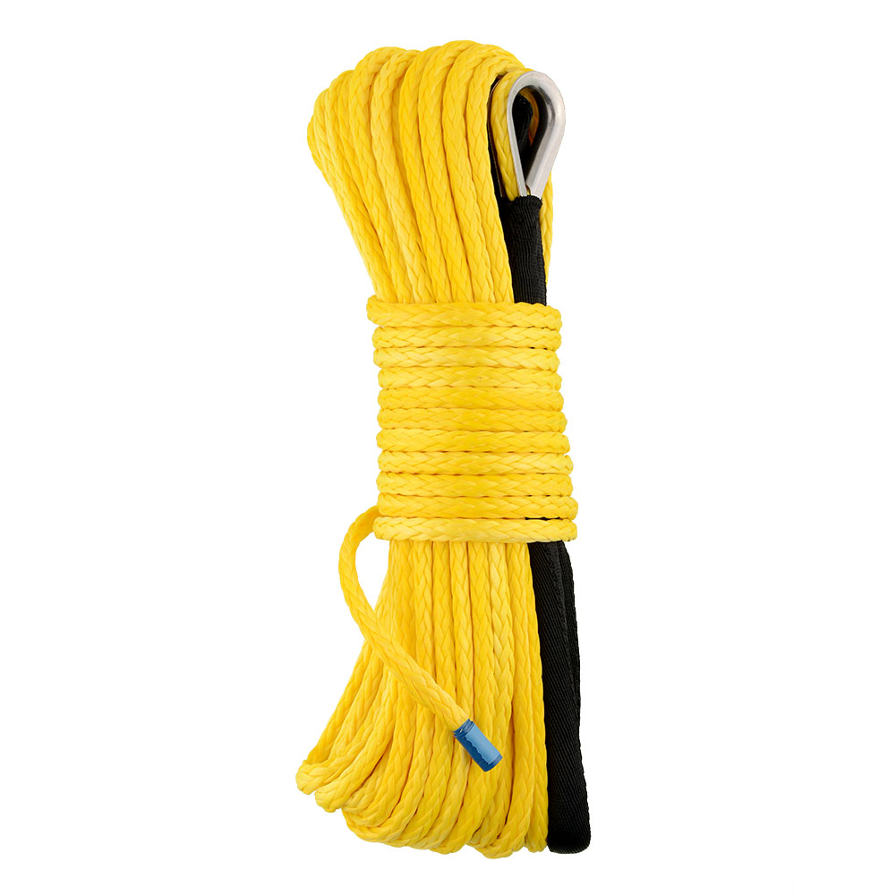 """New Durable Useful 3/16""""x50' Yellow Dyneema Synthetic Winch Rope for Cars Trucks Vehicles Free Shipping(China (Mainland))"""