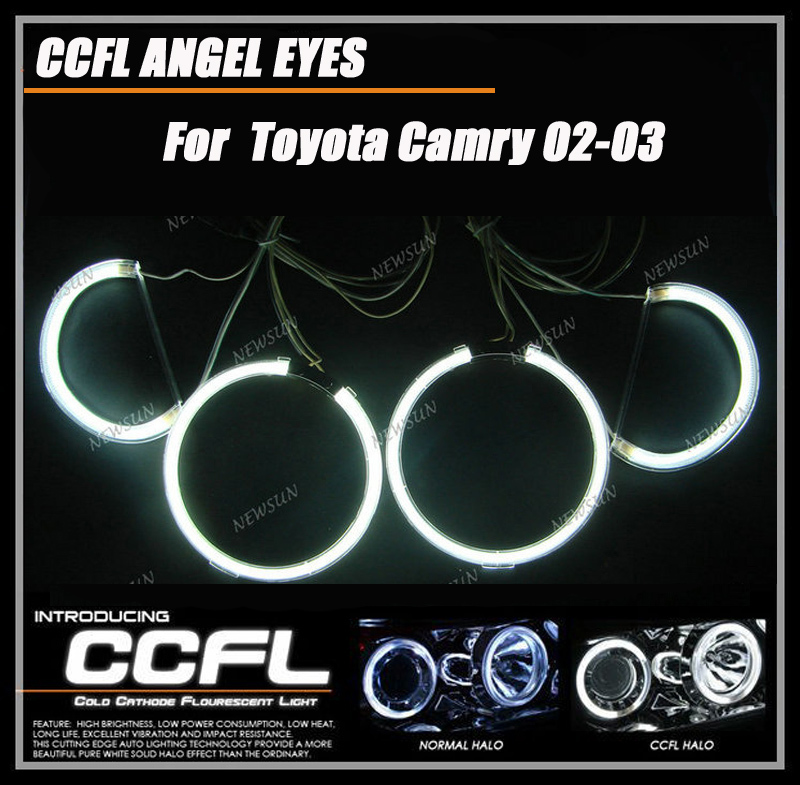 Free Shipping Super brightness Four rings Two inverters CCFL Angel Eyes for Toyota Camry 02-03(China (Mainland))