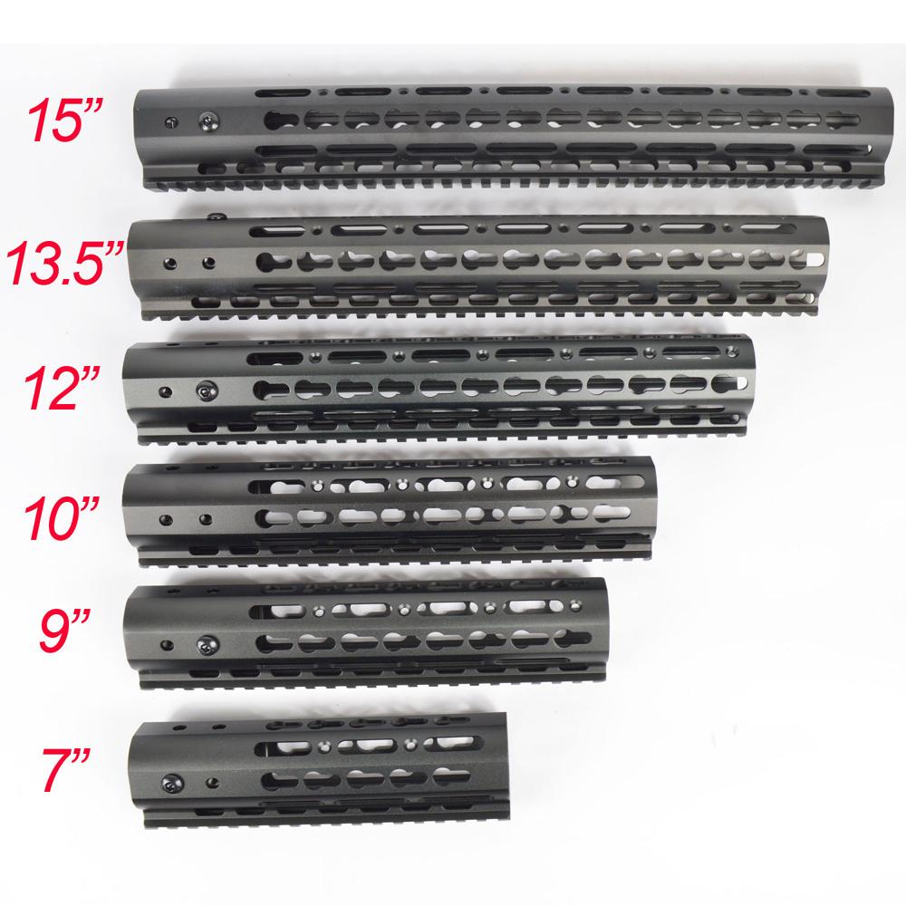 Hot NSR Handguards 7'' 9'' 10'' 12'' 13.5'' 15'' Length Free Float Rail Mounting Key Mod System Handguard Rail(China (Mainland))