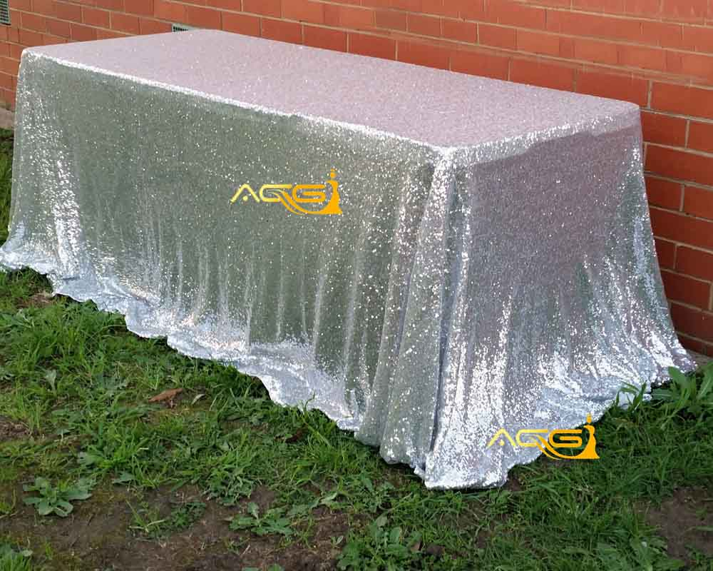 90inch by 156inch silver sequin tablecloth silver sequin tablecloth wholesale sequin linens sparkly sequin overlays