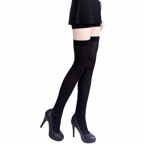 Women's Sexy Pure Color Opaque Sexy Thigh High Stockings Over The Knee Socks