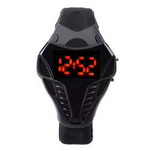 Dial Silicone Black Cool Cobra LED Sports Watch Hot Sale Men s xfcs Quality Black sport
