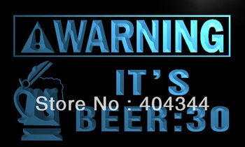 LZ026- Warning It's Beer  30 Bar Neon Light Sign    home decor shop crafts led sign