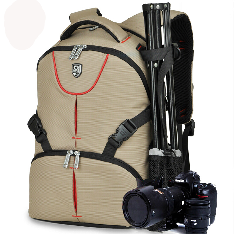 Mens / Women Professional Double Shoulder Waterproof Nylon Digital DSLR Camera Case Bag For Canon Nikon AINO GIRL Sony<br>